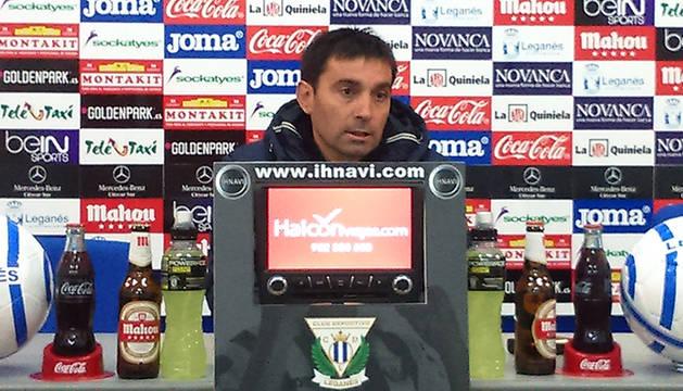 Asier Garitano, técnico del Leganés.