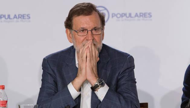 Mariano Rajoy, , durante la Junta Directiva de su partido en el PP.