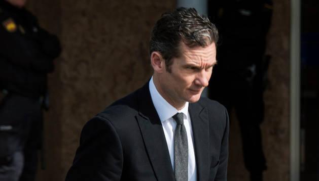 Iñaki Urdangarín a su salida de la Escuela Balear de la Administración Pública.