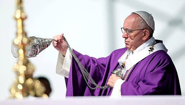 Misa oficiada por el Papa Francisco en Ecatepec
