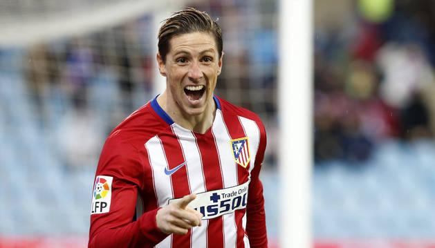 Torres celebra su gol contra el Getafe.