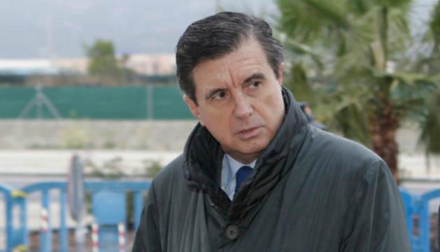 Jaume Matas a su llegada a la Escuela Balear de la Administración Pública.