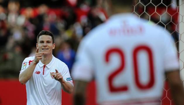 Gameiro celebra el 2-0.