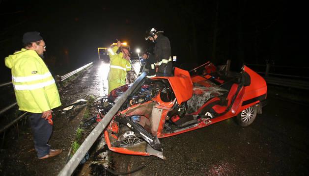 Accidente de tráfico en Ponteareas, Galicia.