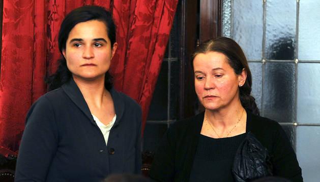 Triana Martínez y Montserrat González, en el juicio.