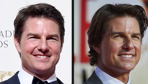 El actor Tom Cruise estrena cara en los Bafta 2016