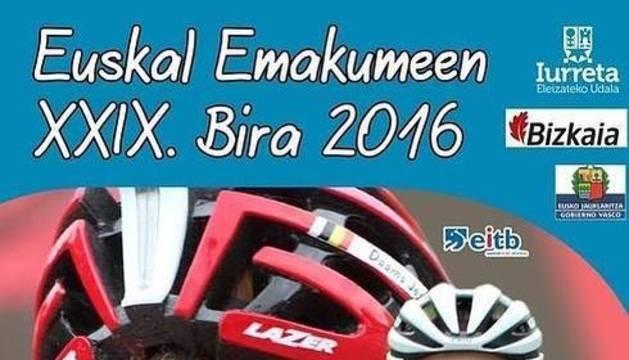 Cartel retirado de la Emakumeen Bira.