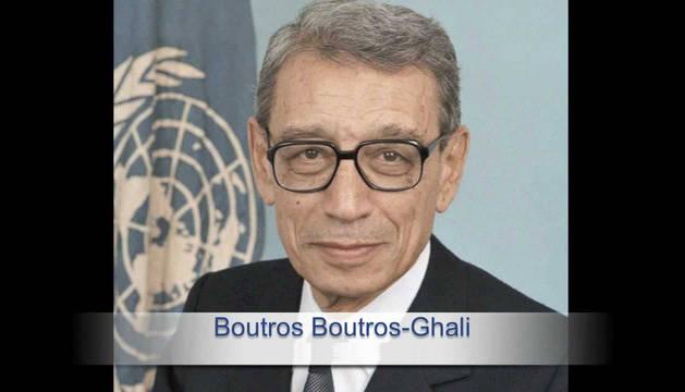 El exsecretario general de la ONU Butros Gali.