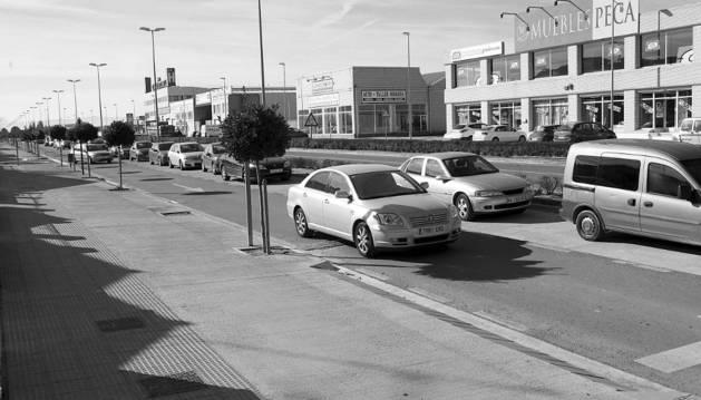 Imagen de la avenida de Navarra de Corella.