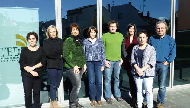El equipo de Teder: Irache Roa, Maite Ruiz de Larramendi, la presidenta Mariví Sevilla, Carmen Ruiz de Larramendi, David Labeaga, Eva Ruiz Melo, Cristina Roa y José Luis Echeverría Munárriz.