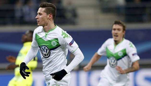 Draxler celebra un gol contra el Gante.