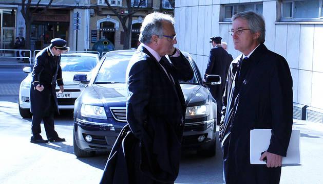 Miguel Sanz y Enrique Goñi, en una imagen de archivo.