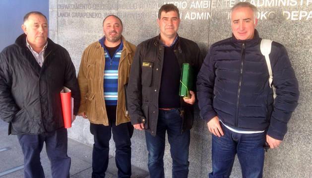 Luis Arrieta, Manuel Teres, Manuel San Miguel Ordóñez y Jesús María Lekuona.