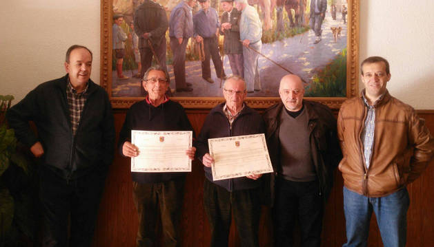 Mikel Gaztelu, Irkus Robles, Gabino Urtasun, Iñaki Yoyer y Luis de Potestad Tellechea.