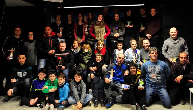 Los ganadores de los premios Higuico Joven de los carnavales de este año.