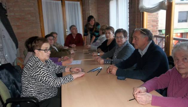 Imagen de varios alumnos del taller de memoria de Murchante.