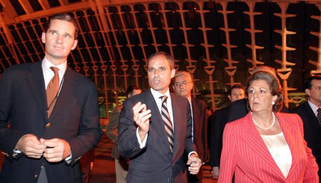 Urdangarín, Camps y Barberá en 2005, en la entrega de los premios Valencia Summit.