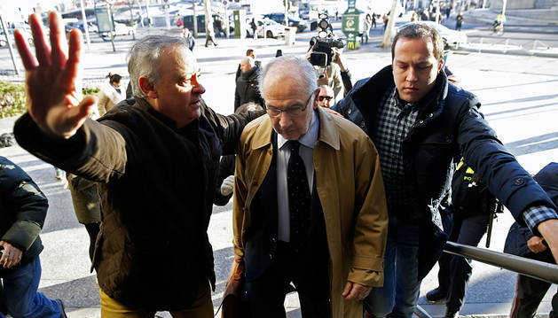 Rato, llegando a los juzgados madrileños.
