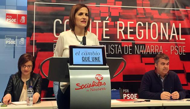 Intervención de María Chivite al inicio del Comité Regional del PSN.