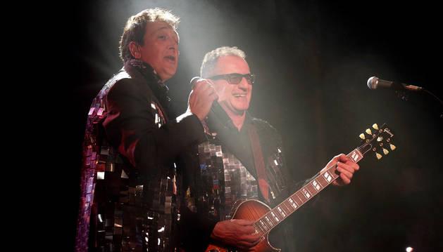 Manolo García y Quimi Portet, durante el concierto que ofrecieron el viernes.
