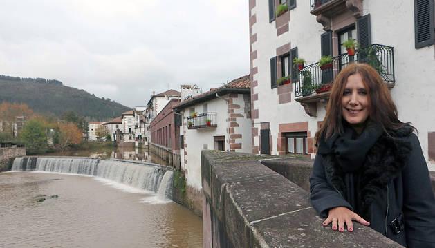Dolores Redondo, fotografiada recientemente en Elizondo.