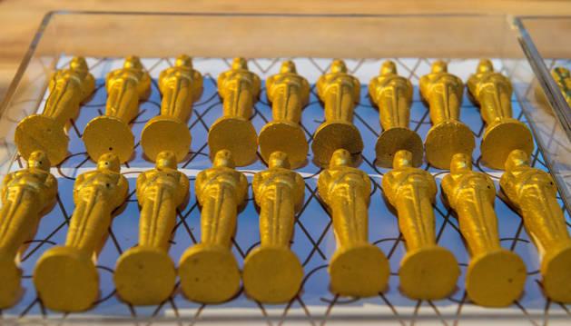 Chocolates con forma de premio Oscar.
