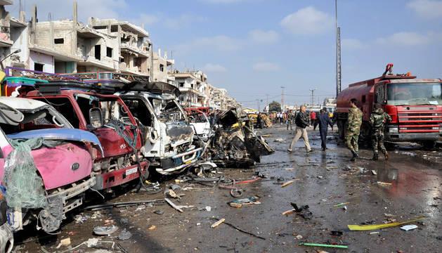 Al menos 46 muertos en un doble atentado en la ciudad siria de Homs