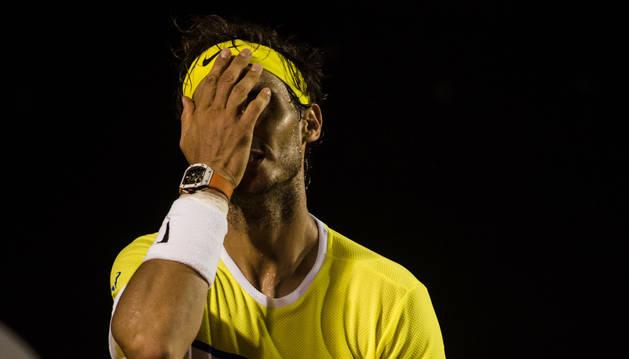 Rafa Nadal, después de perder con Pablo Cuevas.