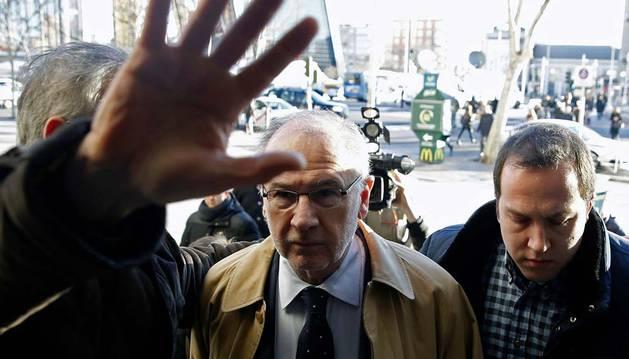Rodrigo Rato, a su llegada a los juzgados.