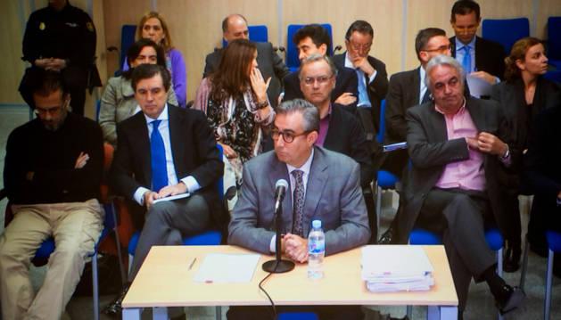 Diego Torres, al inicio de su declaración ante el tribunal de la Audiencia de Palma.