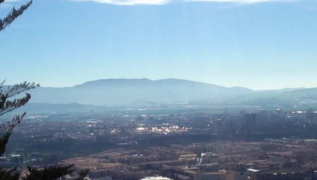 Imagen de Pamplona, tomada desde el monte San Cristóbal.