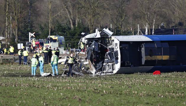 Un accidente de tren en Holanda causa al menos un muerto y un herido grave