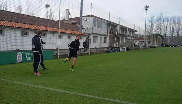 Roberto Torres, este miércoles en Tajonar.