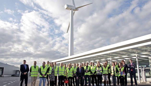 Miembros de la Fundación Industrial Navarra que visitaron Jofemar