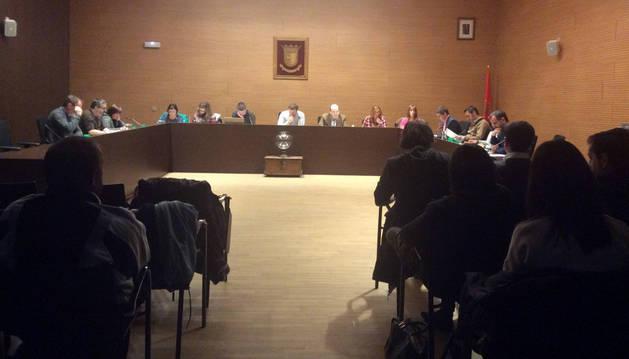 Un momento del pleno celebrado el pasado miércoles por la tarde en Berriozar.