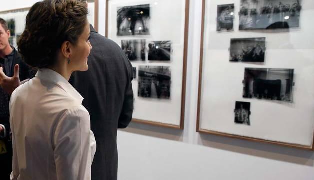 La Reina Letizia durante la inauguración hoy de la feria de arte contemporáneo ARCO