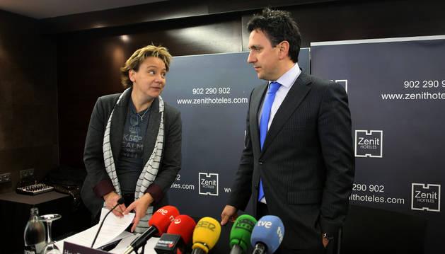 Eva Blanco y Juan Ramón Lafón, este jueves.