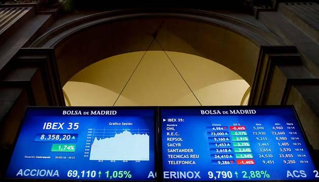 La Bolsa española ha estado marcada por los resultados empresariales.
