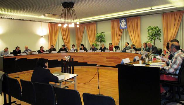 El Pleno del Ayuntamiento de Barañáin, este jueves.
