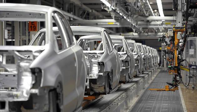 Vista de la planta de Volkswagen en Landaben.