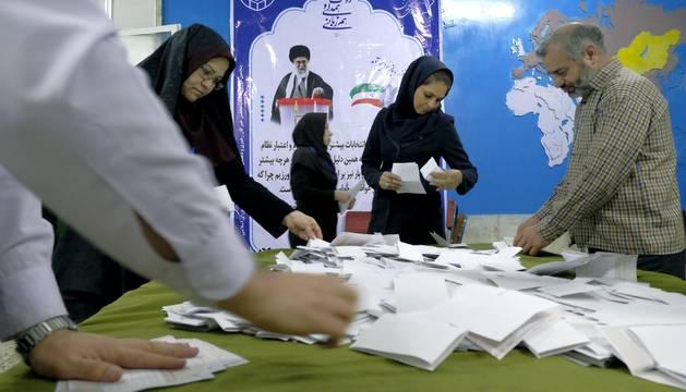 Recuento de votos en Irán.