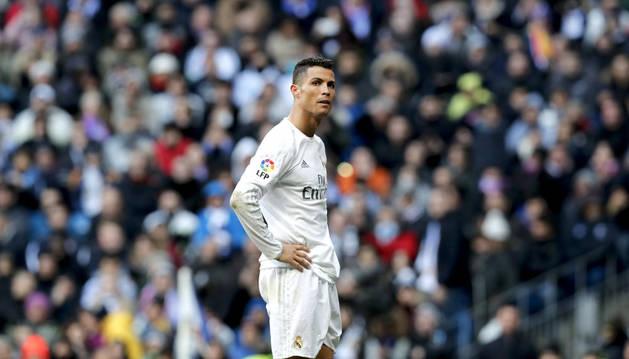 Cristiano, contra el Atlético.