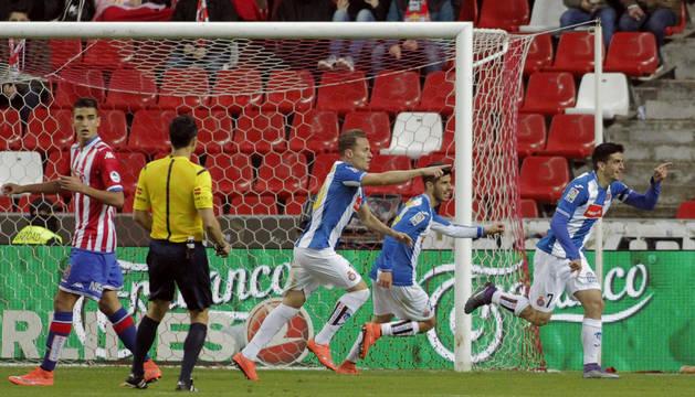 Gerard Moreno celebra un gol.