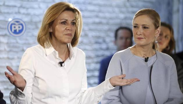 Cospedal ve un referéndum encubierto en el pacto entre PSOE y C'S