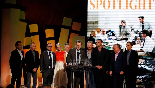 El reparto de 'Spotlight'.