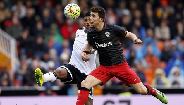 Laporte, contra el Valencia.