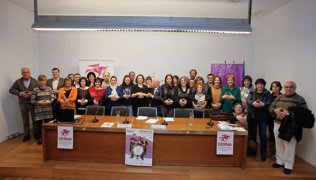 Jornada por el Día Internacional de las Enfermedades Raras en el Parlamento de Navarra.