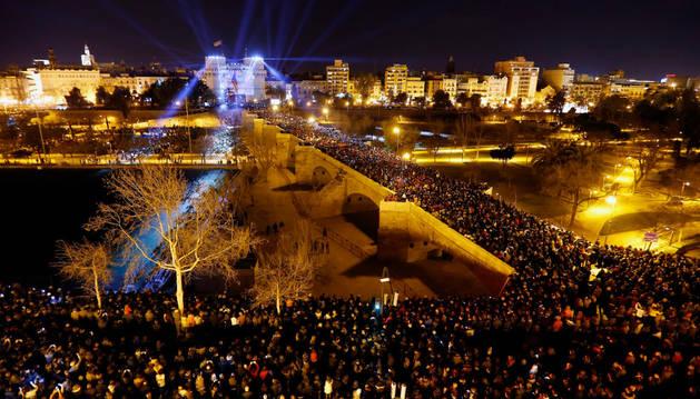 Un momento del acto de la 'Crida' que anuncia la cuenta atrás para el inicio de las Fallas 2016.
