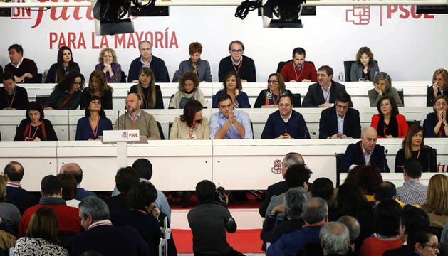 El secretario general del PSOE, Pedro Sánchez, durante el Comité Federal.