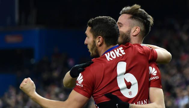 Koke y Saúl.